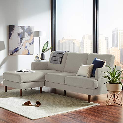 "Amazon Brand – Rivet Goodwin Modern Sectional Sofa, 88.6""W, Light Grey"