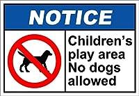 アルミニウム金属ノベルティ危険標識インチ、子供の遊び場犬は許可されていません通知、錆びないアルミニウムUV保護および耐候性、標識警告標識安全標識危険錫標識