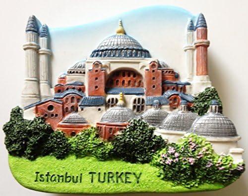Hagia Sophia Istanbul TURKEY Resin M Refrigerator All items Kansas City Mall free shipping 3D Thai fridge