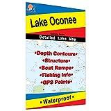 Oconee Fishing Map, Lake