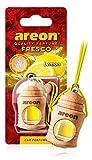 AREON Fresco Auto Limone Deodorante Fresh Agrumi Tropical da Appendere Specchietto Pendente Boccetta Giallo Legami 3D (Confezione x 1)