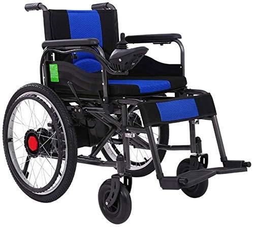 Silla de Ruedas eléctrica Plegable, Sillas de ruedas eléctricas, de edad avanzada con silla de ruedas eléctrica práctica 250W de doble motor de 360 grados Control de la palanca de control ma