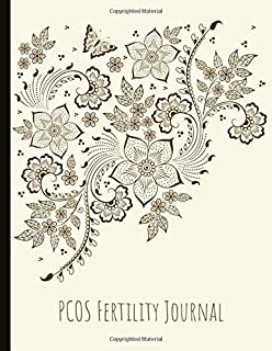 PCOS Fertility Journal: Beautiful Journal With Cycle Tracking Inc. Temperature, Cervical Fluid, LH, Ovulation & Medication. Suitable For PCOS Fertility Tracking and Trying To Conceive (TTC).
