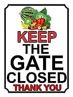 ゲートを閉じたままにするブリキの看板壁の装飾金属ポスターレトロなプラーク警告看板オフィスカフェクラブバーの工芸品
