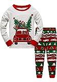 Little Boys Girls Christmas Pajamas Sets for Toddler 100% Cotton Dinosaur Planet Sleepwear Long Sleeve 2 Piece kids Clothes Pjs 3-7T car-6277-8