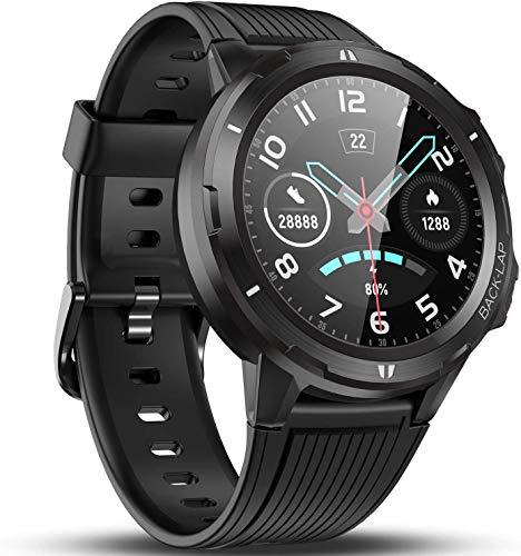 Naack Bluetooth-Smartwatch, Touchscreen, IP68, wasserdicht, Herzfrequenz, Blutdruckmessung, Gesundheit, Sport, Fitness-Tracker, kompatibel mit iOS und Android