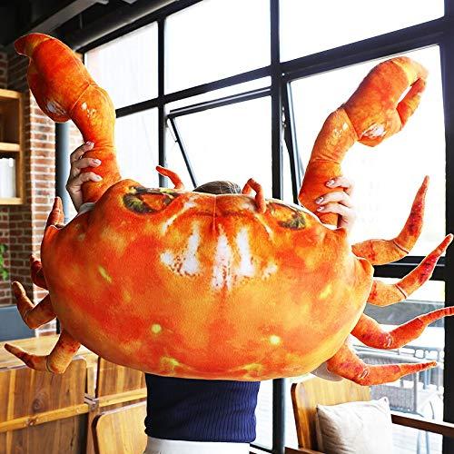 Die Simulation Krabbe Puppe Kissen Plüschspielzeug Super hässlichen Puppe nette Königskrabbe Lustige -58 * 60cm große Puppe (Size : 58 * 60cm)