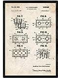 Nacnic LEGO Bausteine Patent Poster. Vintage Stil