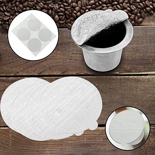 Sellos de aluminio desechables Pegatinas en la tapa para medicina de alimentos Maquillaje Caspules recargable Pods Filtros Tapas autoadhesivas resistentes al calor (100PCS)
