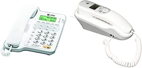 $37 » AT&T CL2909 Corded Phone with Speakerphone and Caller ID/Call Waiting, White & TR1909 Trimline Corded Phone with Caller ID...