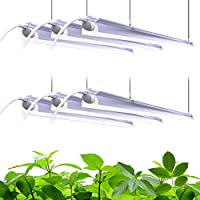 Barrina Plant Grow Light, 252W(6 x 42W, 1400W Equivalent), Full Spectrum, LED Grow Light Strips, T8 Integrated Growing...