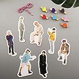 Yuxareen Kpop BTS Bangtan Boys 7 Stück Signature Hängekarten + 7 Holzclip + 1 Seil selbstgemachte...