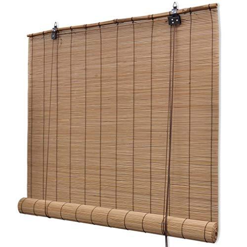 N/O Viel Spaß beim Einkaufen mit Braunes Bambusrollo 140 x 160 cm