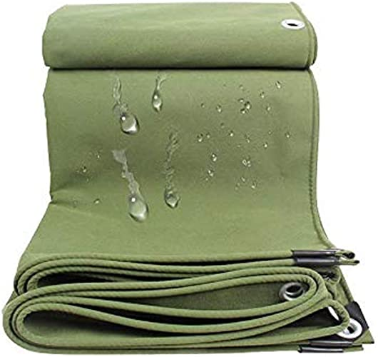 Wenhui Baches Robustes   Couverture de remorque de Tente imperméable au Sol   Bache Multicouche dans Plusieurs Tailles   Bache épaississante Utilitaire   Vert (Taille   4m×8m)