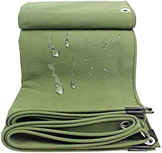 Wenhui Baches Robustes   Couverture de remorque de Tente imperméable au Sol   Bache Multicouche dans Plusieurs Tailles   Bache épaississante Utilitaire   Vert (Taille   5m×6m)