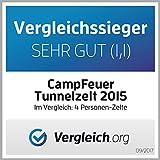 CampFeuer – Tunnelzelt mit 2 Schlafkabinen - 9