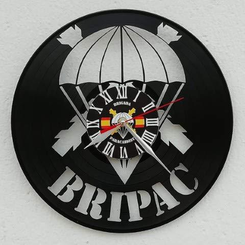Reloj La Brigada Almogávares Vi de Paracaidistas - Realizado sobre Antiguos Discos de vinilos. Ejercito Español. Regalo Original.