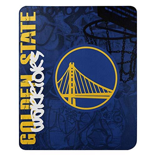 The Northwest Company NBA Golden State Warriors 'Hard Knocks' Fleece Throw Blanket, 50' x 60' , Blue