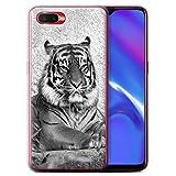 Stuff4 Phone Case for Oppo RX17 Neo Mono Zoo Animals Tiger