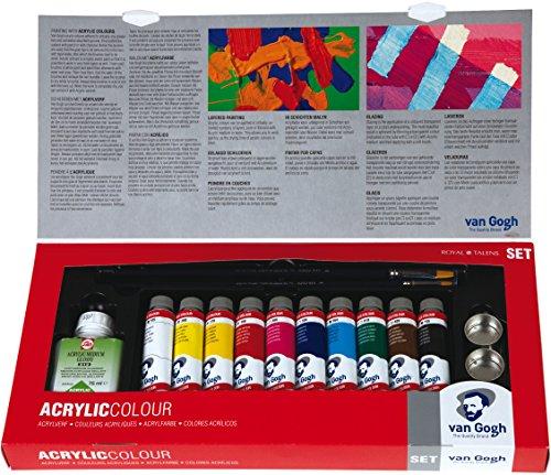 Talens VAN GOGH - Set de pintura acrílica con tubos de 40 ml y accesorios