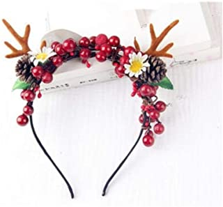 XLEIYI Lovely Antler Headband Christmas Headdress Cute Deer Hairpin Moose Headband Five Styles Optional (Color : C)