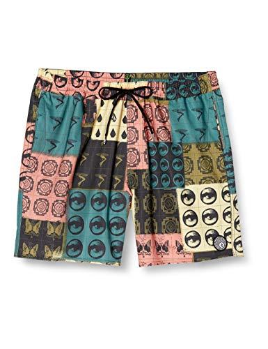 Volcom Tropic BLOTTER Trunk 17 Costume da Bagno, Multicolore, L Uomo