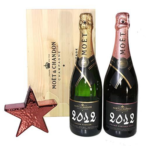Champagne Moët & Chandon Grand Vintage e Gran Vintage Rosé in Cassetta Legno Originale – Un Regalo di Lusso per Natale 2020 – Cod.434
