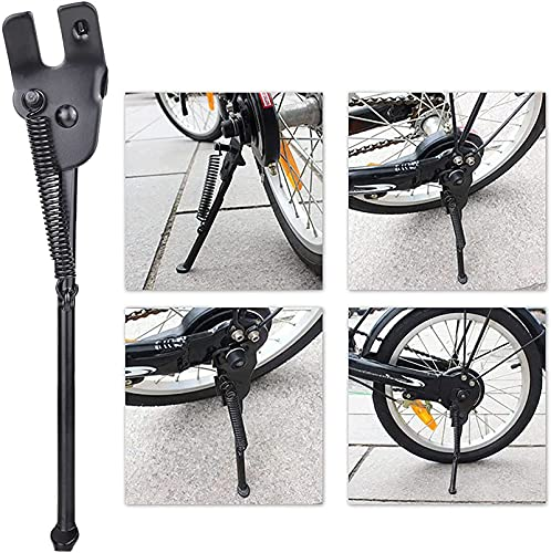 Kickstand for 18 inch Kid's Bicycle, SEISSO Bike Stand for 18 Premium Steel Rear Wheel Holder Black Easy Assembly for Royal Baby Girls Boys Bicycle