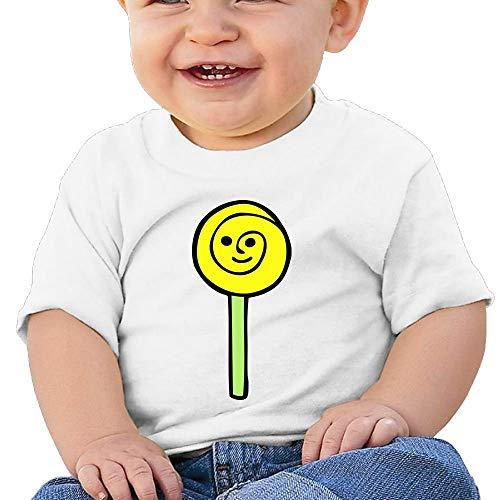 Baby Girls Toddler Happy Lollipop Short Sleeve Tshirt