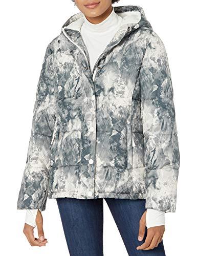 Amazon Essentials Chamarra con Capucha de Peso Pesado. down-alternative-outerwear-coats, Estampado de mármol, XS