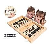 HOWADE Rapide Sling Puck Jeu, Catapult Echecs Pare-Chocs 2 en 1 Slingshot Table Hockey sur Glace Gagnant Conseil Party Game Toy pour Parents-Enfants