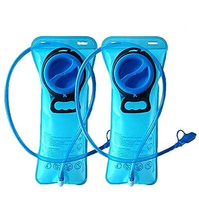 CHBOP Hydration Bladder 2 Pack 2 Liter Water Bladder Sports Travel Reservoir Hydration Bag Pack Outdoor Hiking