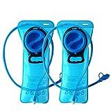 CHBOP Hydration Bladder 2 Pack 2 Liter Water Bladder Sports Travel Reservoir Hydration