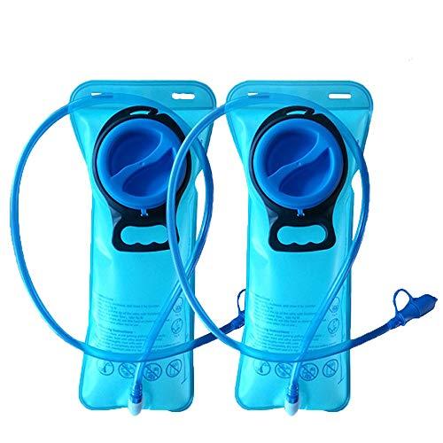CSDSTORE Trinkblase Trinkbeutel Wasserblase Trinkrucksack Wasserbeutel Wasserbehälter Sport für Rucksack mit Schlauch BPA-FREI 2 Liter zum Wandern Radfahren Klettern Outdoor-Aktivität 2 Stück