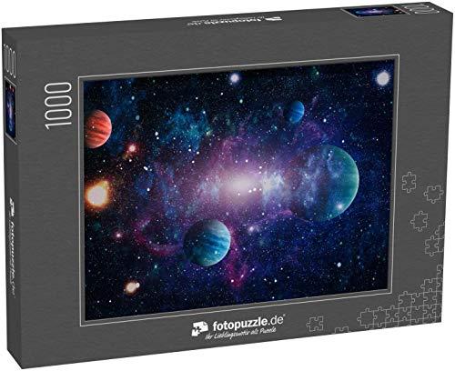 fotopuzzle.de Puzzle 1000 Teile Planeten, Sterne und Galaxien im Weltraum, die die Schönheit der Weltraumforschung Zeigen