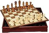 J & J Ajedrez Ajedrez Ajedrez Internacional Establece para Adultos Juego de ajedrez Juegos de Mesa Tablero de ajedrez Piezas de ajedrez,30cm