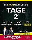 Le Grand Manuel du TAGE 2 - 120 fiches de cours, 10 tests blancs, 1000 questions + corrigés en vidéo - édition 2019