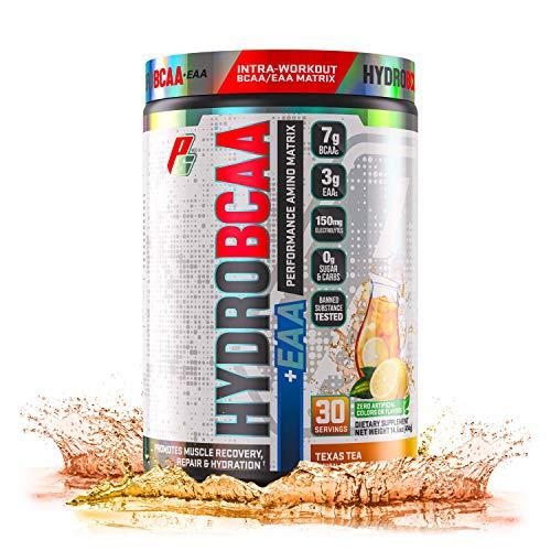 PROSUPPS HydroBCAA 2:1:1 paquete de 30 porciones Aminoácidos ramificados BCAA Leucina Isoleucina Valina Regeneración muscular Sabor del té de Texas