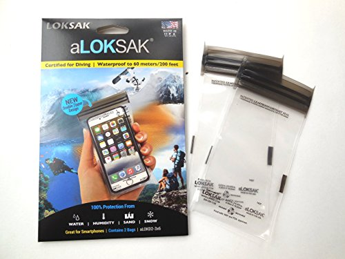 Set of 4 Clear LokSak aLokSak Assorted Waterproof Resealable Storage Bags 3.7x7, 4x7, 6x9, 8x11