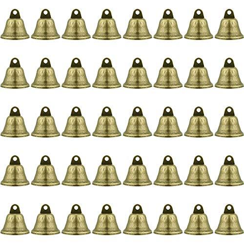 40 Pieces 1.5 inch Bronze Jingle Bells Vintage Jingle Bells Craft Bells Christmas Bells for Dog Potty Training, Making Wind Chimes,Festive decorat ect