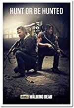 The Walking Dead Hunt Or Be Hunted Poster Magnetic Notice Board White Framed - 96.5 x 66 cms (Approx 38 x 26 inches)