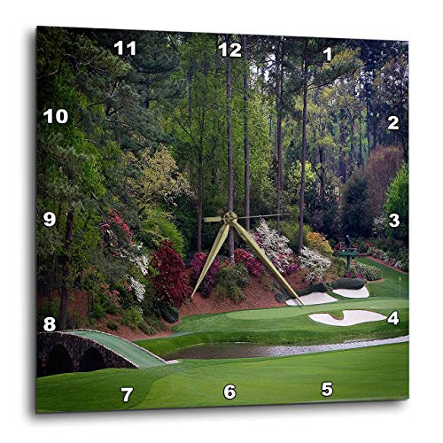 3dRose DPP 131410_ 3Augustas Amen Esquina Campo de Golf golfistas en Puente Reloj de Pared, 15por 15'