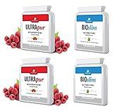 2cajas de cetona de frambuesa silvestre UltraPur y 2 cajas de depurador del organismo BioSlim