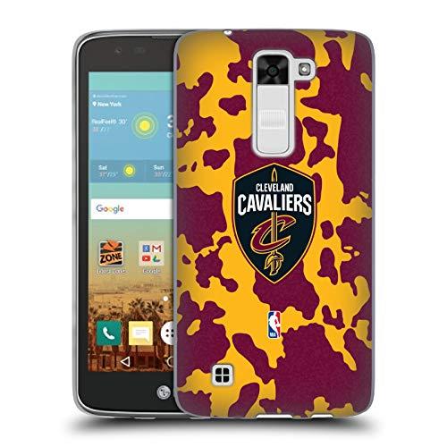 Head Case Designs Oficial NBA Estampado Animal de Vaca Cleveland Cavaliers 3 Carcasa de Gel de Silicona Compatible con LG K7 K330 / Tribute 5