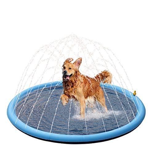Pet Soft SprinklerSplashPads - Dog Sprinkler Mat Dog Bath Pool Thicken,...