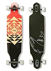 The 40inch drop through cruiser was designed to meet basic needs for longboard beginners, or transport needs for on campus. 8-ply natural hardrock maple and epoxy glue make the board strong enough to handle most riders. Genuine alluminium 7-Inch reve...