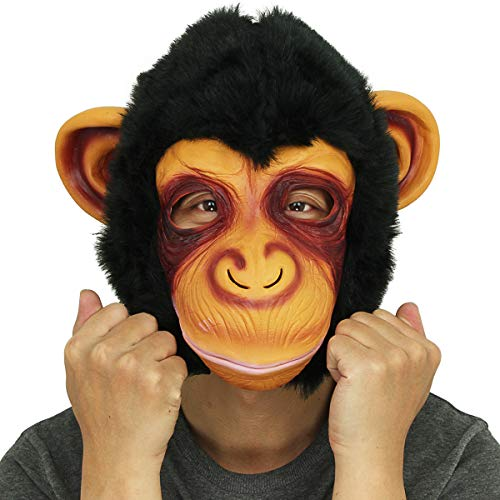 Novità Deluxe in lattice di gomma strisciante magico scimpanzé Chimp completo Overhead Maschera Halloween Fancy Dress Costume partito decorazioni
