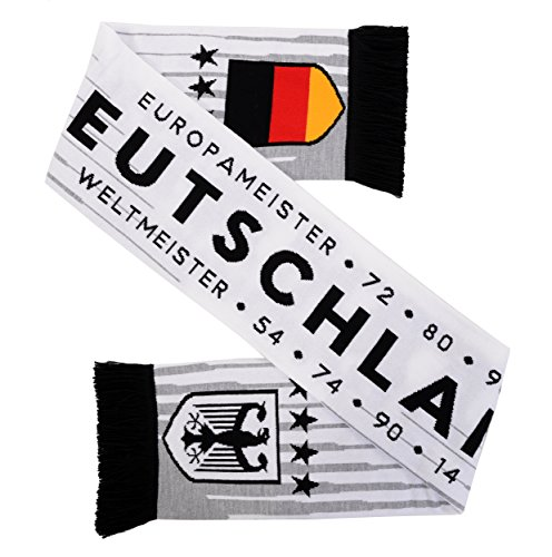 Germany Deutschland Soccer HD Knit Scarf (Tricolor) (White)