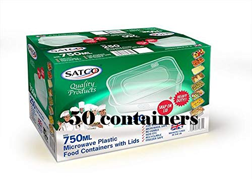 30 PCS SATCO 2 OZ ROUND FOOD CONTAINERS WITH LIDS FOR CATERING AND RESTAURANTS