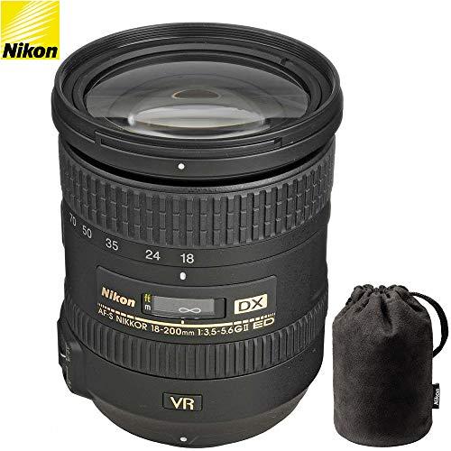 Nikon AF-S DX NIKKOR 18-200mm f/3.5-5.6G ED VR II lente 2192B – (reacondicionado certificado)